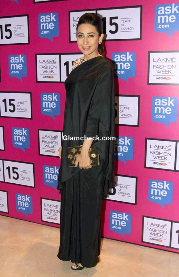 Karisma Kapoor at the grand finale show by Annamika Khanna at  LFW Summer Resort 2015