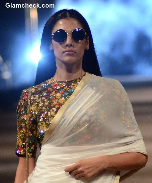 Power Dressing with a saree by Sabyasachi Mukherjee Style