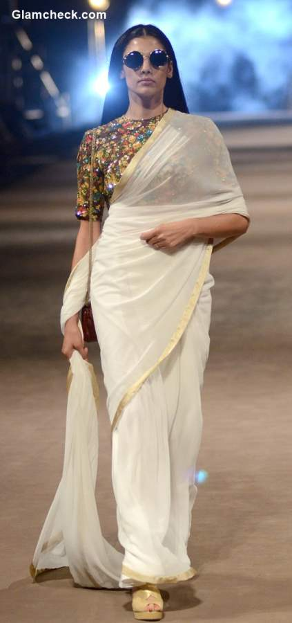 Power Dressing with a saree by Sabyasachi Mukherjee