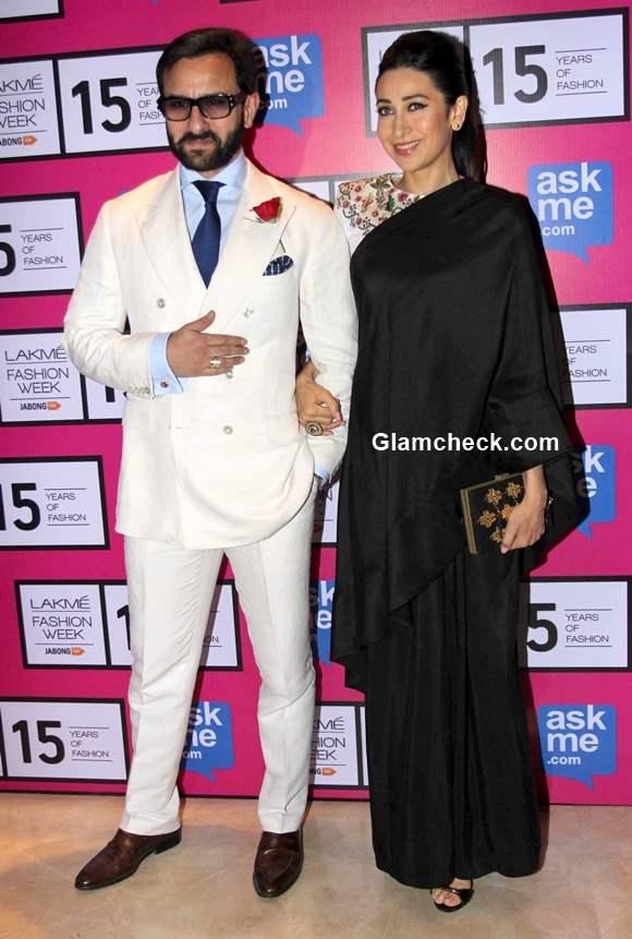 Saif Ali Khan and Karisma Kapoor at the grand finale show by Annamika Khanna at  LFW Summer Resort 2015