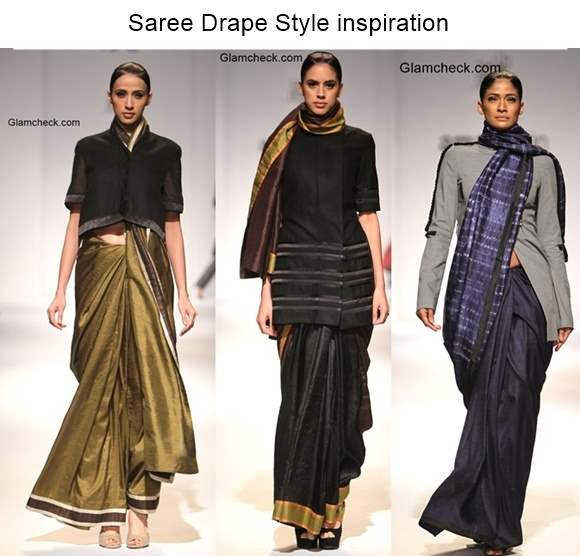 Saree Drape Style inspiration – Amalraj Sengupta collection at Amazon India Fashion Week 2015