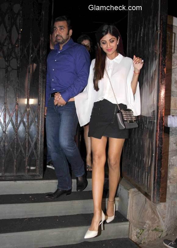 Shilpa Shetty and Raj Kundra spotted