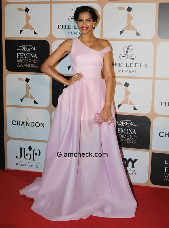 Sonam Kapoor in Toni Maticevski during the LOreal Paris Femina Women Awards 2015