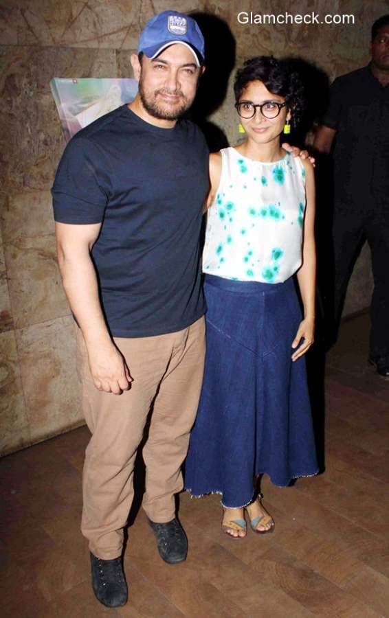 Aamir Khan and wife Kiran Rao