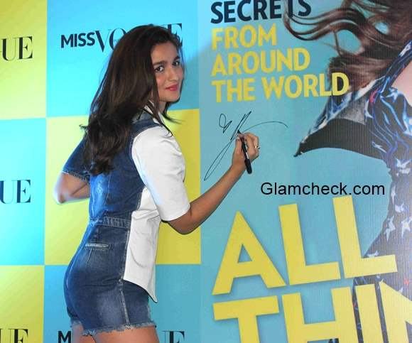 Alia Bhatt launches the first edition of Miss Vogue India