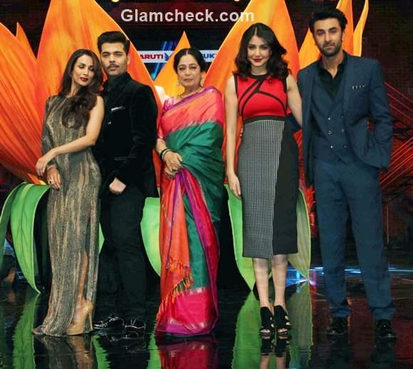 Bombay Velvet at the sets of Indias Got Talent 6