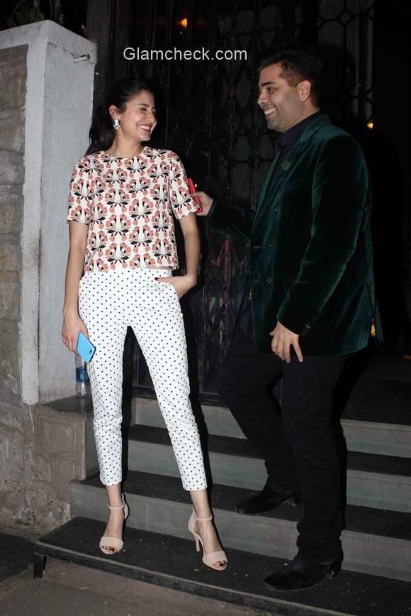 Celeb looks - Anushka Sharma Karan Johar spotted in Mumbai