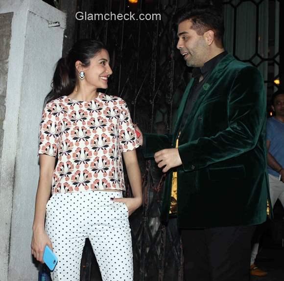Celeb looks - Anushka Sharma and Johar spotted in Mumbai