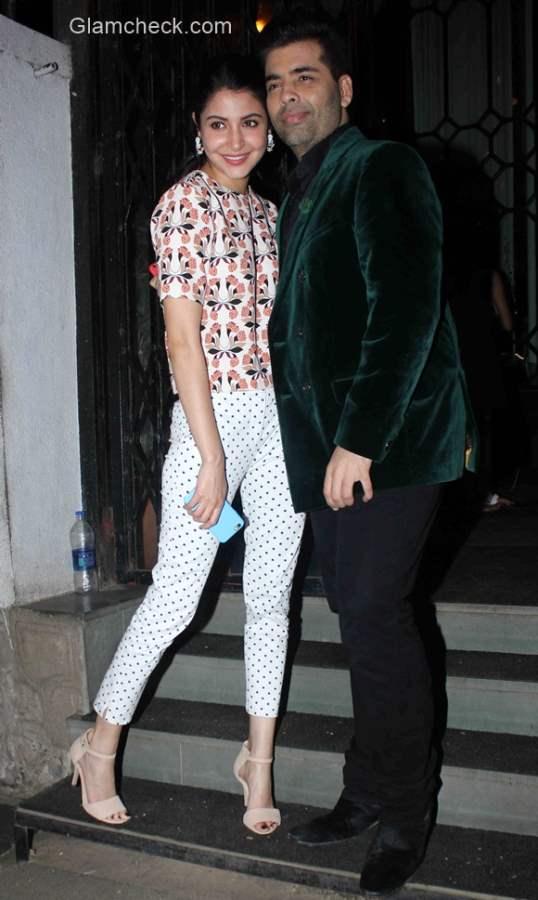 Celeb looks - Anushka Sharma and Karan Johar