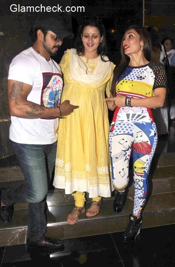 Cricketer S Sreesanth with wife Bhuvneshwari