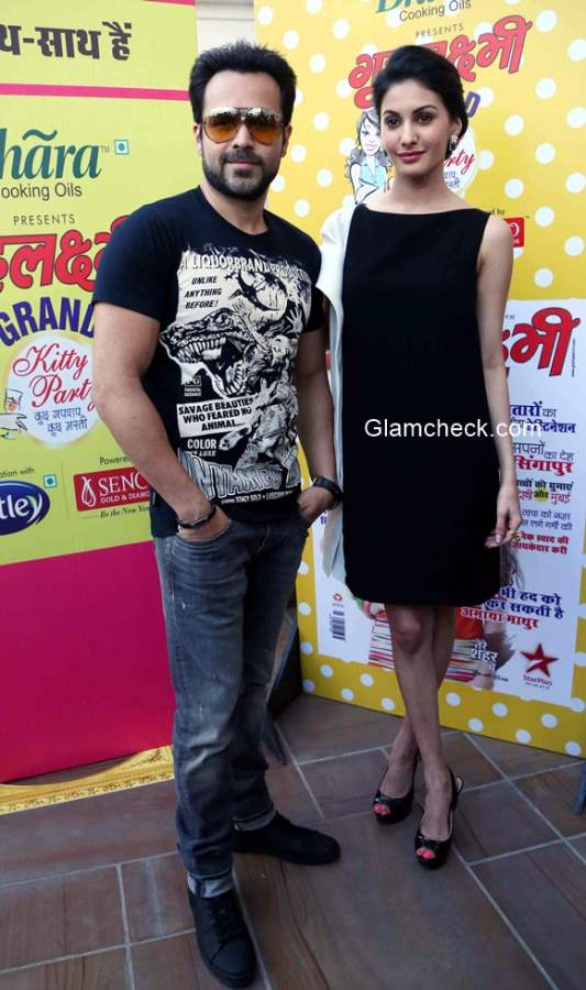 Emraan Hashmi and Amyra Dastur promotes Mr X in New Delhi