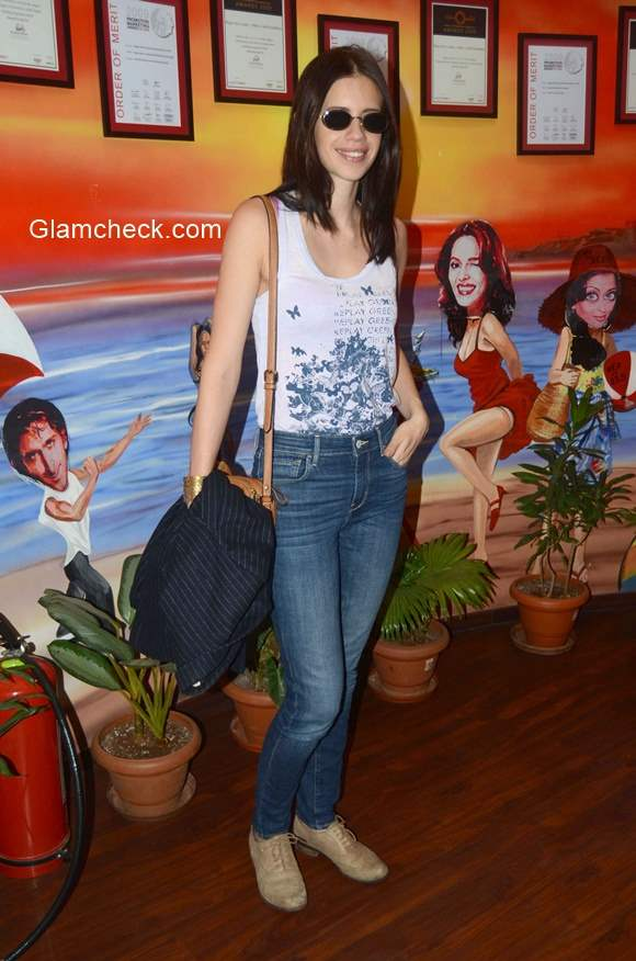 Kalki Koechlin promotes Margarita with a Straw at Red FM studio in Mumbai