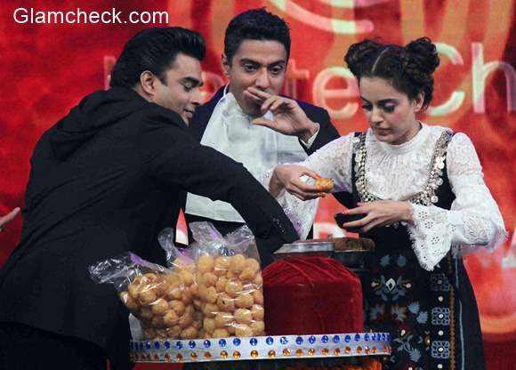 Kangana Ranaut and R Madhavan at the grand finale of Master Chef India 4