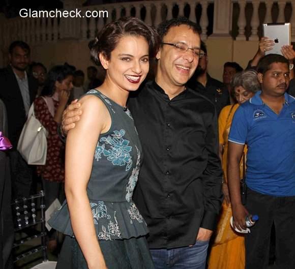 Kangana Ranaut with Vidhu Vinod Chopra