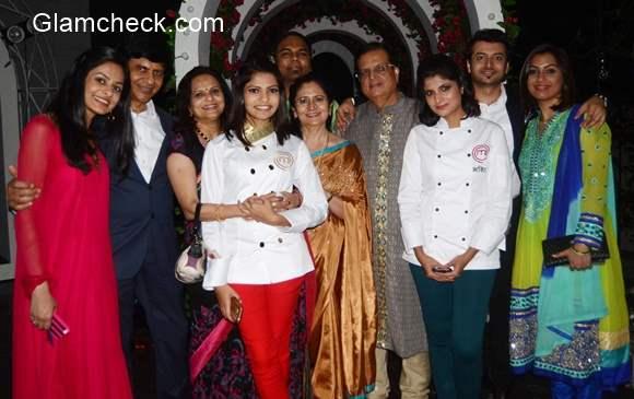 Nikita Ghandhi winner of MasterChef India season 4 with her family