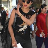 Priyanka Chopra at Mumbai International airport