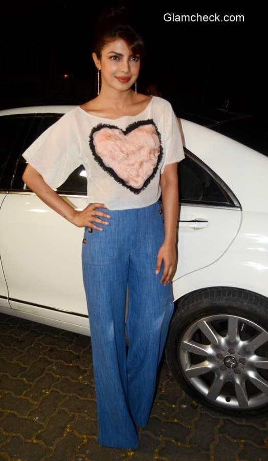Priyanka Chopra attends Anil Kapoor Dil Dhadakne Do party
