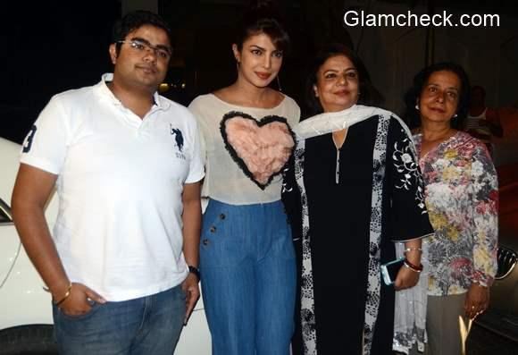 Priyanka Chopra with her family