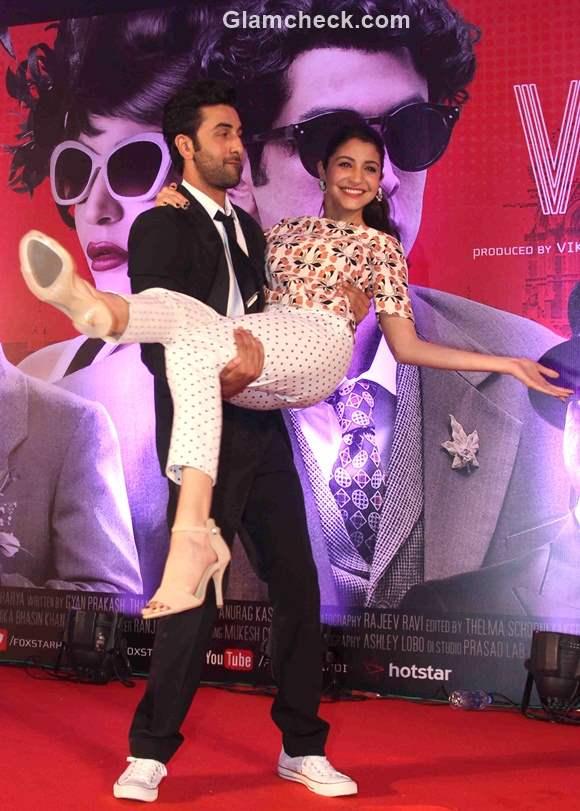 Ranbir Anushka at the trailer launch of Bombay Velvet