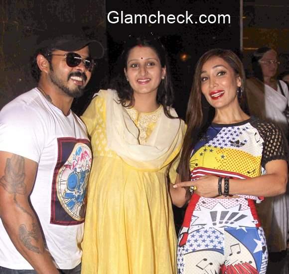 S Sreesanth with wife Bhuvneshwari Kumari at the press show of film Ek Adbhut Dakshina Gurudakshina