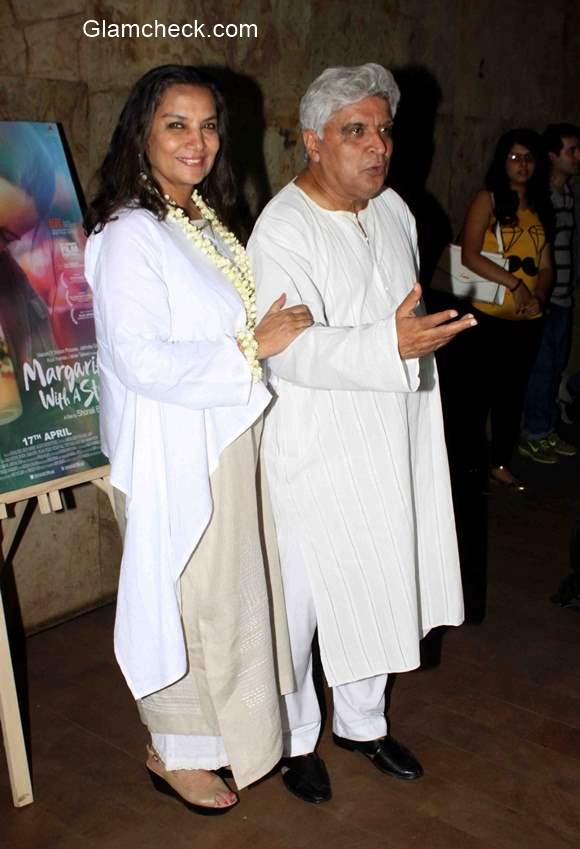 Shabana Azmi with her husband Javed Akhtar