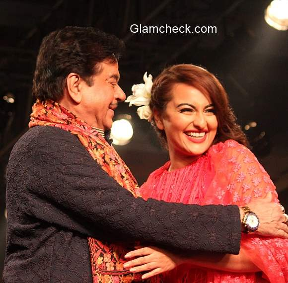 Shatrughan Sinha with daughter Sonakshi Sinha