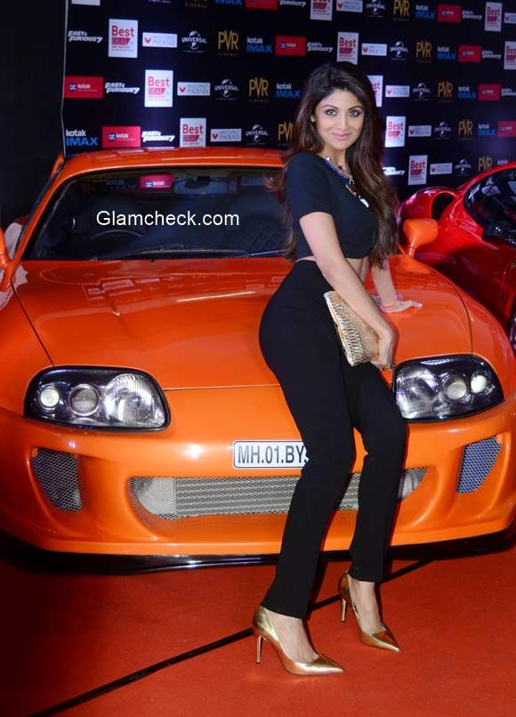 Shilpa Shetty 2015 at the premier show of the film Fast Furious in Mumbai