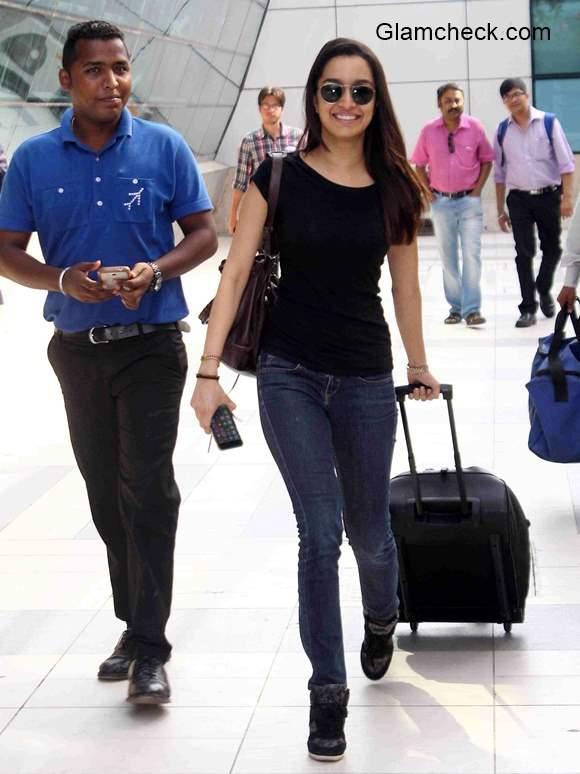 Shraddha Kapoor at Mumbai International Airport