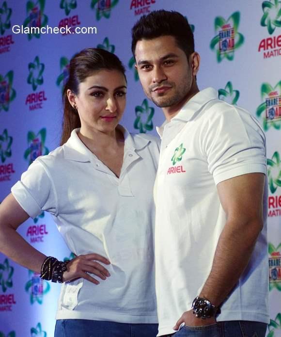 Soha Ali Khan and Kunal Khemu launche Ariel Men & Women wash care label