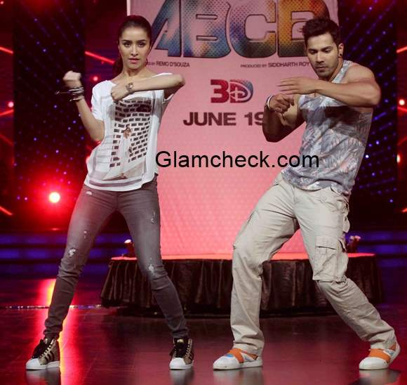 Varun Dhavan Shraddha Kapoor promote Any Body Can Dance 2
