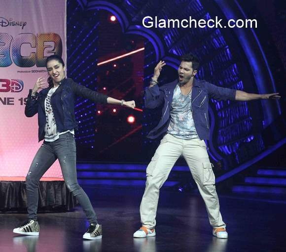 Varun Dhavan and Shraddha Kapoor promote Any Body Can Dance 2