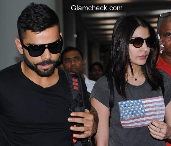 Virat Kohli and Anushka Sharma spotted at Kolkata Airport