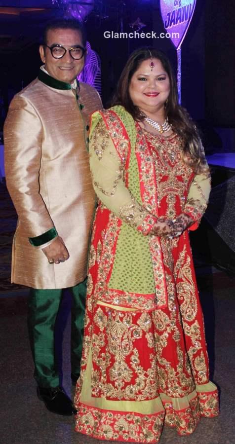 Abhijeet Bhattacharya with wife Sumati anniversary celebration