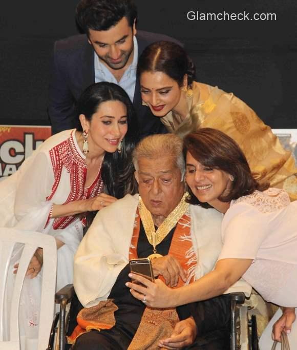 Actor Shashi Kapoor receives Dadasaheb Phalke Award 2015 pictures