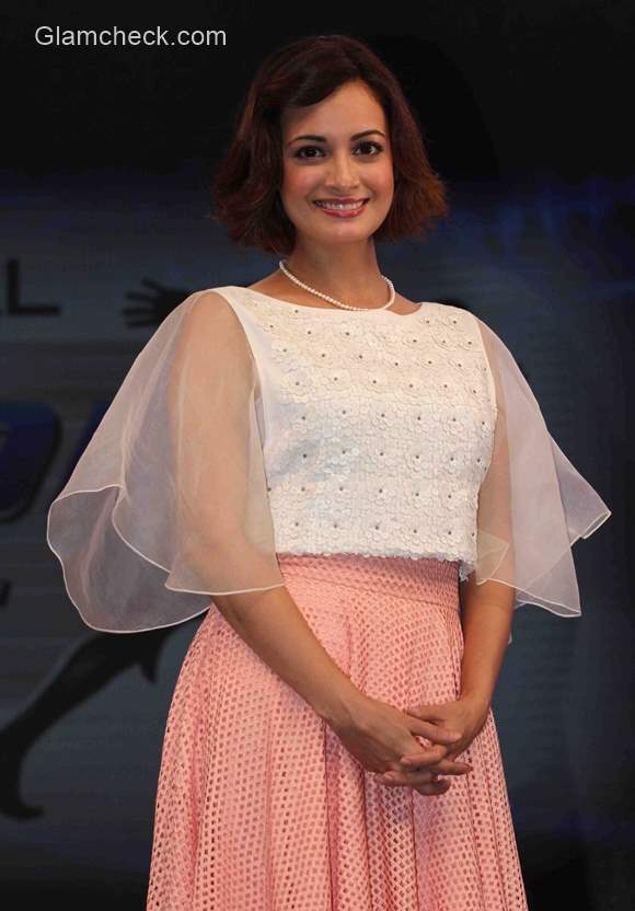 Dia Mirza at the launch of Fit India Movement