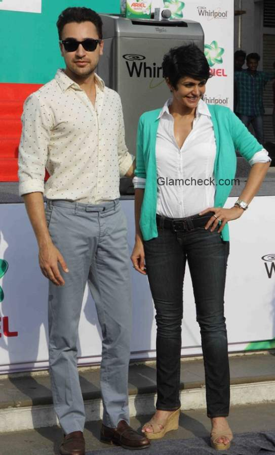 Imran and Mandira at Ariel Share the Load event