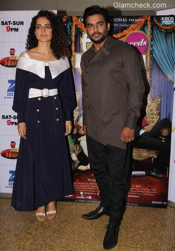 Kangana Ranaut and R Madhavan on the sets of Dance India Dance Super Moms