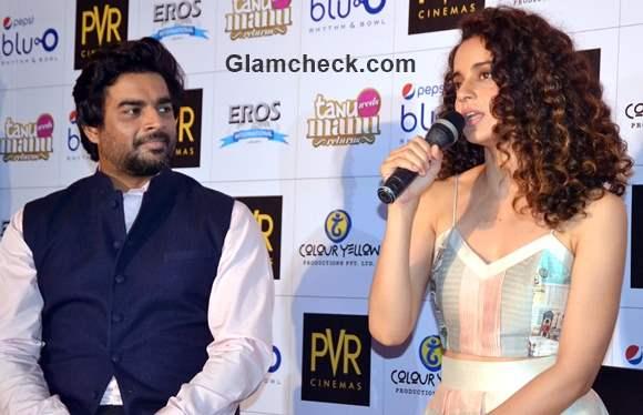 Kangana Ranaut and R Madhavan promote Tanu Weds Manu Returns in Gurgaon