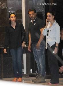 Celebrities visit Salman Khan's residence in Mumbai