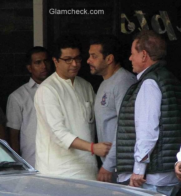Raj Thackeray visits Salman Khan residence in Mumbai