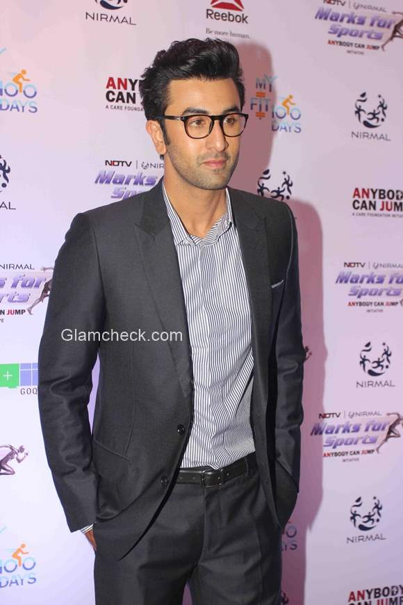 Ranbir Kapoor at the launch of Fit India Movement
