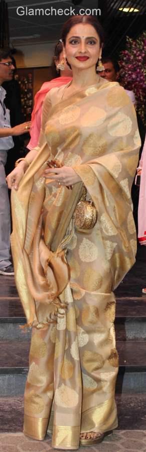 Rekha 2015 at Dadasaheb Phalke Award ceremony