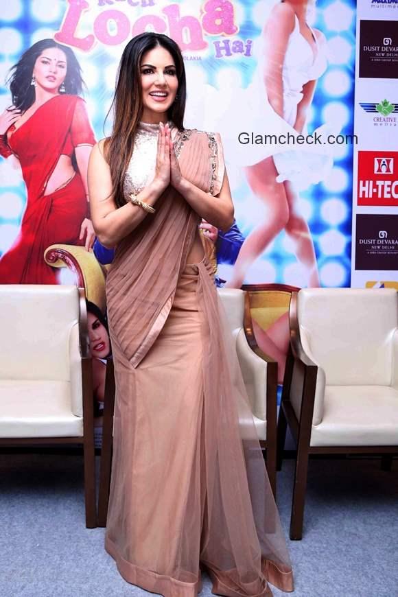 Sunny Leone promotes Kuch Kuch Locha Hai in New Delhi