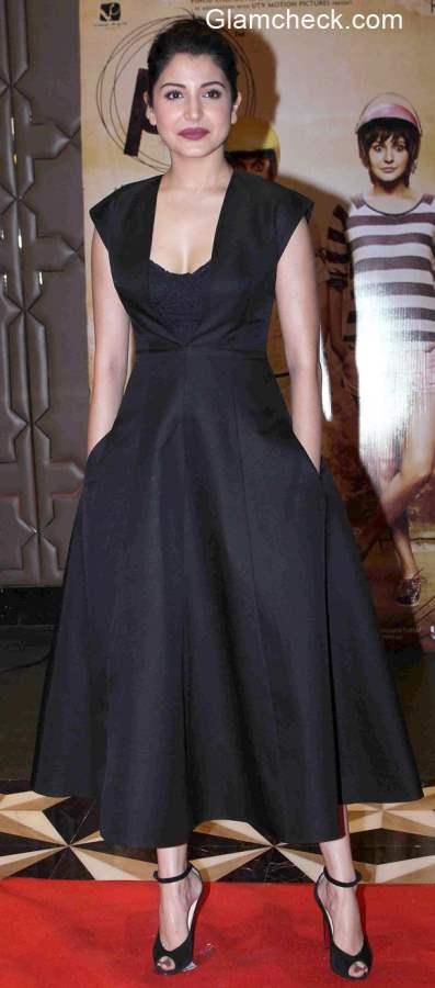 Anushka Sharma in Black dress at success party of PK