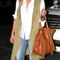 Celeb spotted - Neha Dhupia at the Mumbai International airport