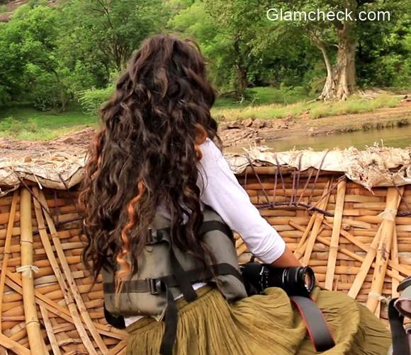 Curly Hairstyles for Nature Camping