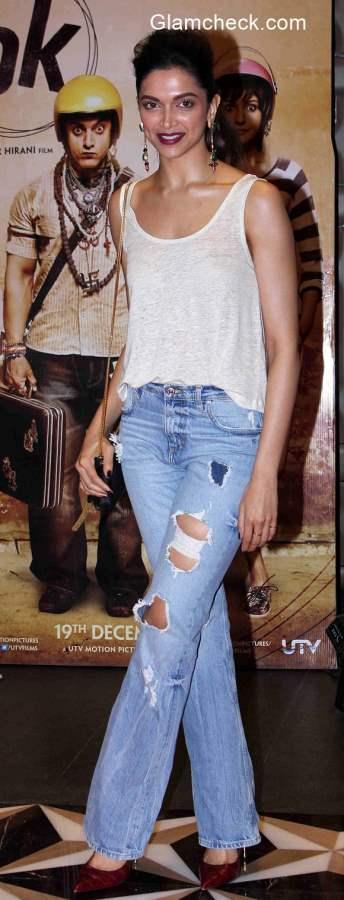 Deepika Padukone in Ripped Denims