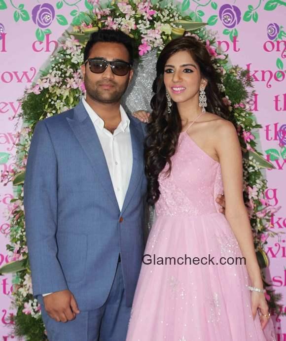 Fashion designer Nishka Lulla with fiance Dhruv Mehra