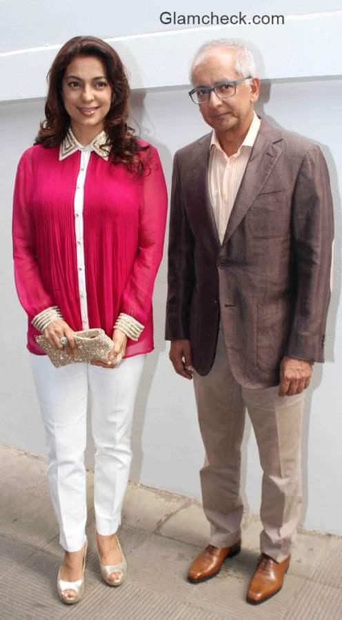 Juhi Chawla with husband Jay Mehta
