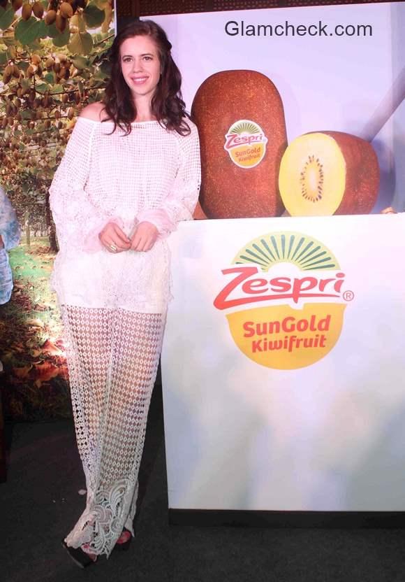 Kalki Koechlin unveils the Zespri SunGold Kiwifruit in Mumbai